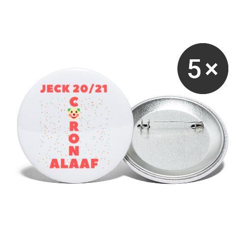 Corona Alaaf - Buttons groß 56 mm (5er Pack)