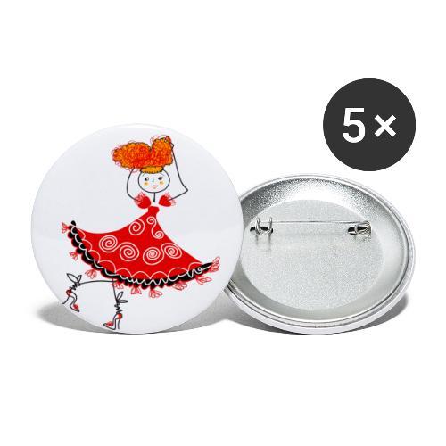 Ballerina - Confezione da 5 spille grandi (56 mm)