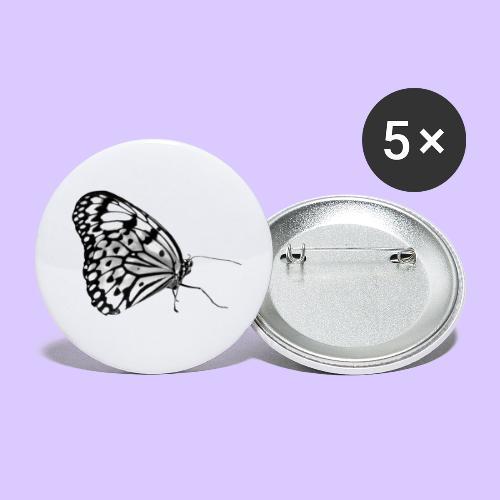 Schmetterling, Schmetterlinge, Insekt, Natur - Buttons groß 56 mm (5er Pack)