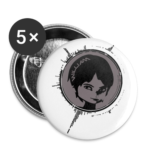 Code lyoko - Lot de 5 grands badges (56 mm)