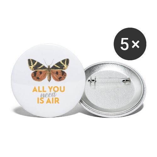 Schmetterling all you need is air - Buttons groß 56 mm (5er Pack)