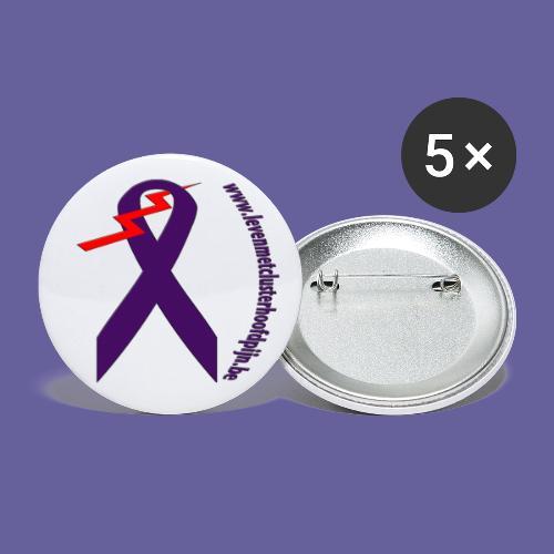 Logo design with site bended name website png - Lot de 5 grands badges (56 mm)