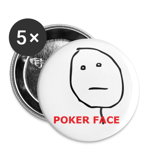 neutral poker face l png - Buttons groot 56 mm (5-pack)