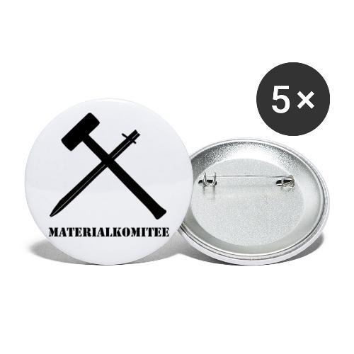 Materialkomitee - Buttons groß 56 mm (5er Pack)