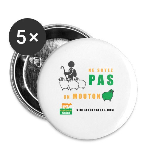 shepperd - Lot de 5 grands badges (56 mm)