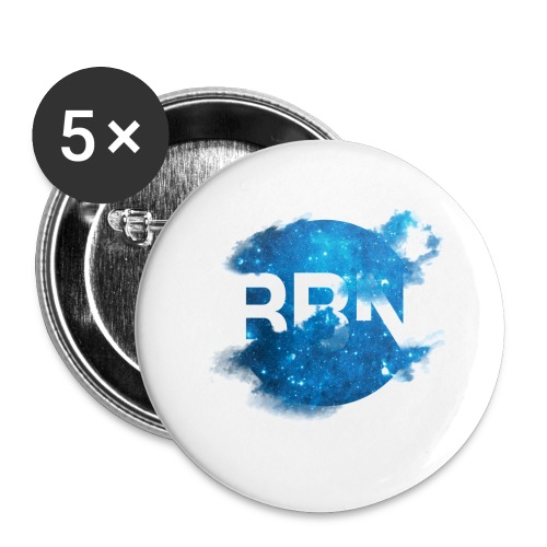 In space all are nerds - Stor pin 56 mm (5-er pakke)