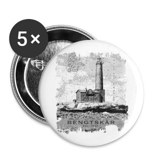 Bengtskär Majakka - Tekstiilit ja lahjatuotteet - Rintamerkit isot 56 mm (5kpl pakkauksessa)