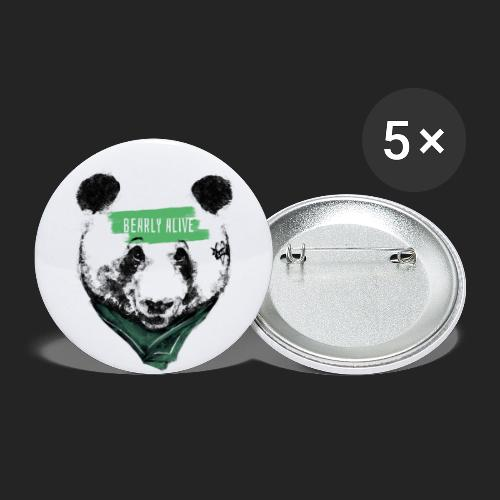 Panda bearly alive - Lot de 5 grands badges (56 mm)