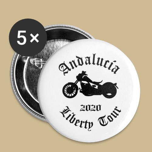 Liberty Tour 2020 Andalucia - Buttons groß 56 mm (5er Pack)