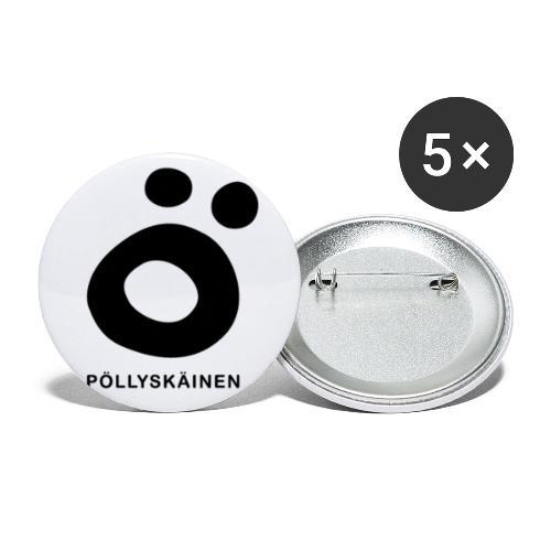 Pöllyskäinen - Rintamerkit isot 56 mm (5kpl pakkauksessa)