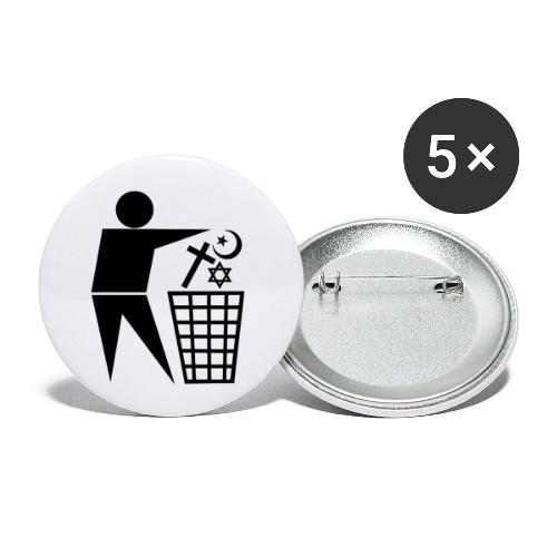 Anti Religion # 1 - Buttons large 2.2''/56 mm(5-pack)