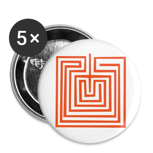 Mother Earth or Maze Symbol - Buttons large 2.2''/56 mm(5-pack)