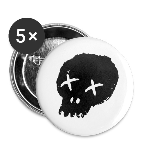 blackskulllogo png - Buttons large 2.2''/56 mm(5-pack)