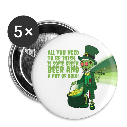 Irish man - Buttons large 2.2''/56 mm (5-pack)