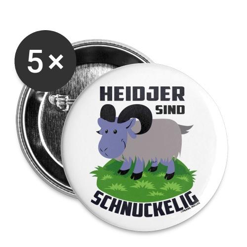 Heidschnucke Fiete - Buttons groß 56 mm (5er Pack)