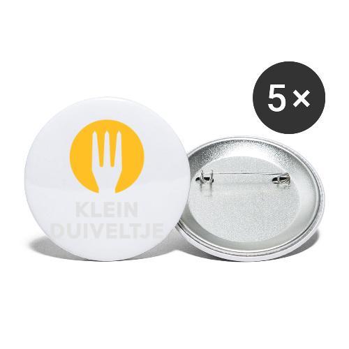 klein duiveltje - trident - Lot de 5 grands badges (56 mm)