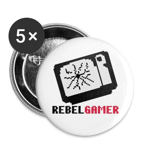 retroTV - Buttons groß 56 mm (5er Pack)