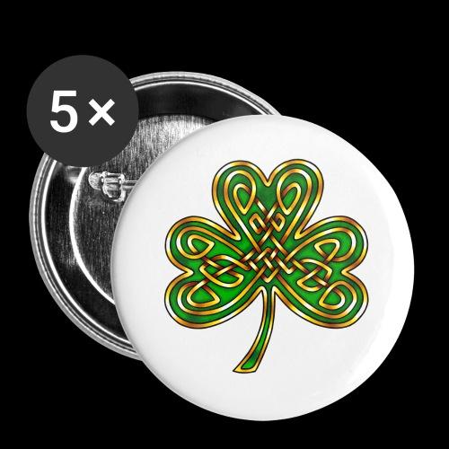 Celtic Knotwork Shamrock - Buttons large 2.2''/56 mm(5-pack)