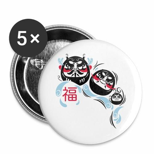 Daruma spirit - Confezione da 5 spille grandi (56 mm)