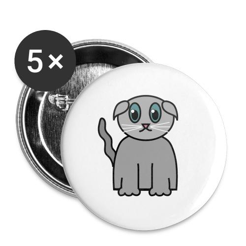 Süßes Kätzchen - Buttons groß 56 mm (5er Pack)