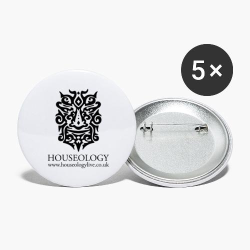 Houseology Official - black - Buttons large 2.2''/56 mm (5-pack)