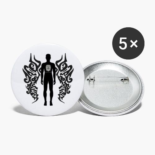 Houseology Original - Angel of Music (INVERSE) - Buttons large 2.2''/56 mm(5-pack)