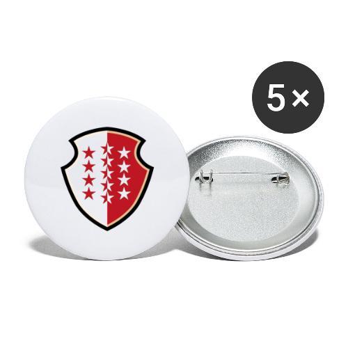 Bouclier Valaisan - Buttons groß 56 mm (5er Pack)