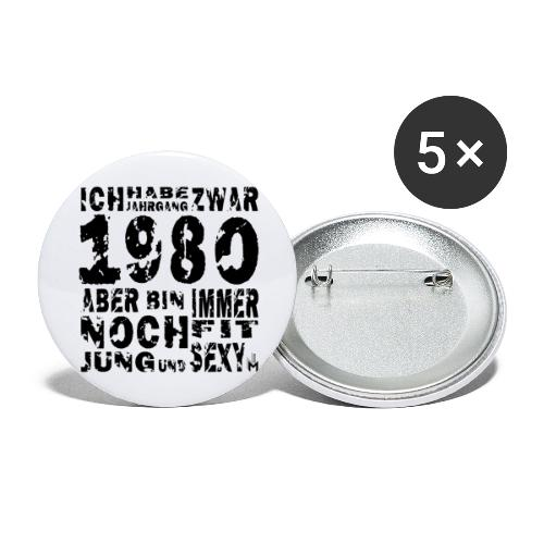 Sexy Jahrgang 1980 - Buttons groß 56 mm (5er Pack)