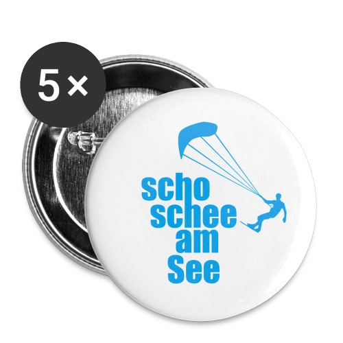 scho schee am See Surfer 01 kite surfer - Buttons groß 56 mm (5er Pack)