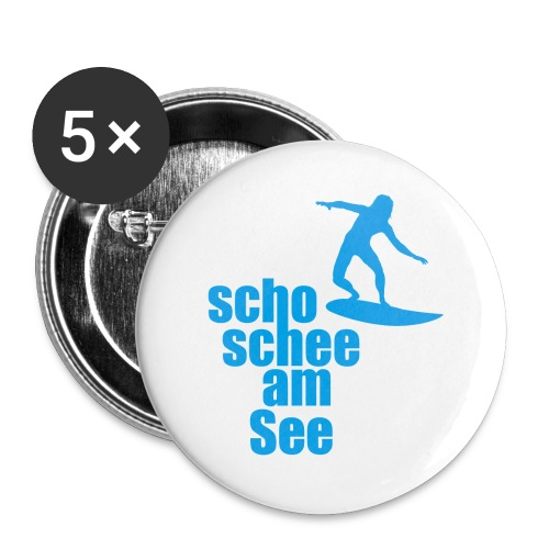 scho schee am See Surfer 04 - Buttons groß 56 mm (5er Pack)