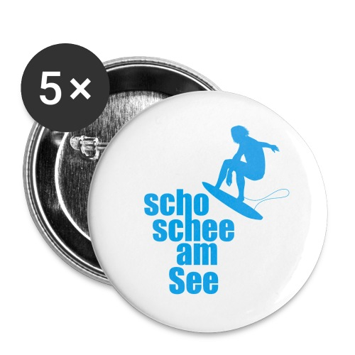 scho schee am See Surfer 01 - Buttons groß 56 mm (5er Pack)