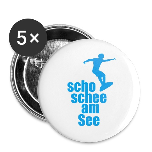 scho schee am See Surfer 02 - Buttons groß 56 mm (5er Pack)