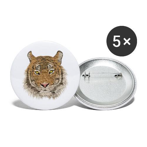 Tiger - Buttons groß 56 mm (5er Pack)
