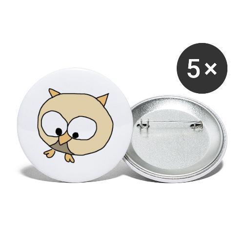 Uggla - Stora knappar 56 mm (5-pack)