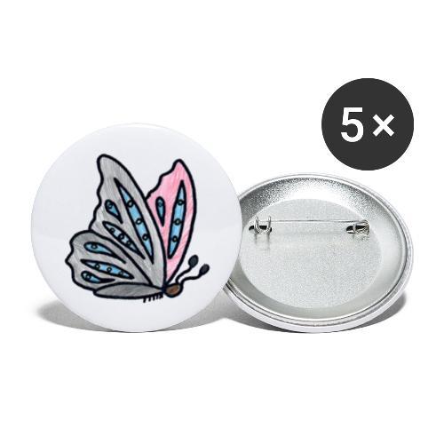 Fjäril - Stora knappar 56 mm (5-pack)