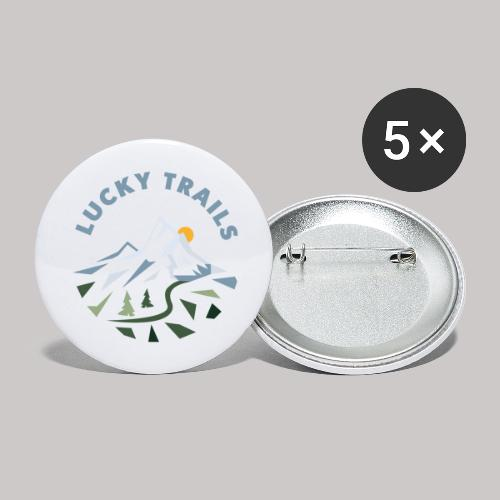 Lucky Trails Coaching - Buttons groß 56 mm (5er Pack)
