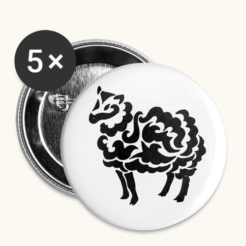 Tribal Schaf Wolle Tattoo Lustig Geschenkidee - Lot de 5 grands badges (56 mm)