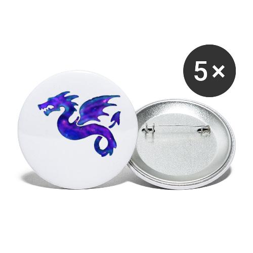 Drago - Confezione da 5 spille grandi (56 mm)