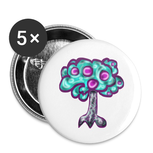 Neon Tree - Buttons large 2.2''/56 mm (5-pack)