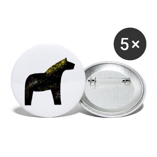 Dala Pinni Art® black - Buttons groß 56 mm (5er Pack)