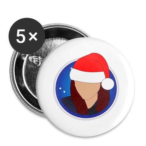 discoxmas - Buttons large 2.2''/56 mm(5-pack)