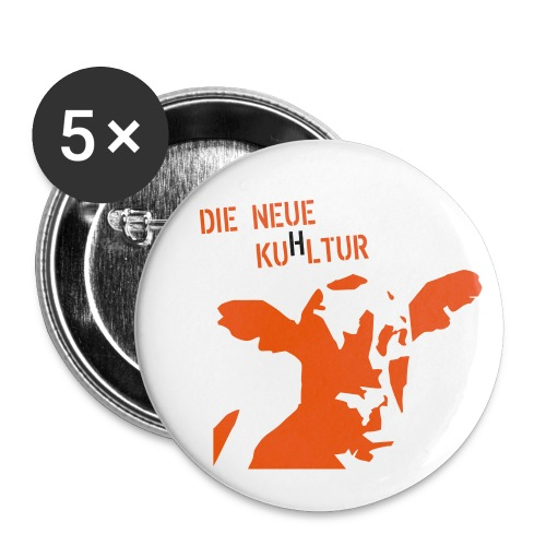 tshirtfrontfinal - Buttons groß 56 mm (5er Pack)