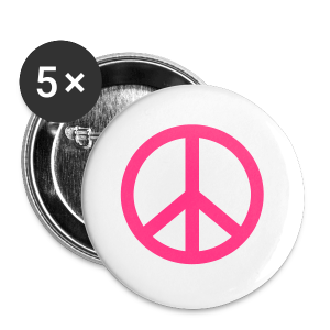 Peace, Love and Happiness - Buttons groot 56 mm