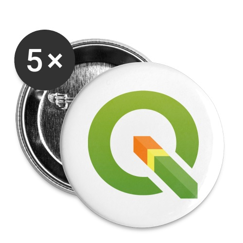 qgis logo 4000x3893px tra - Buttons large 2.2''/56 mm(5-pack)