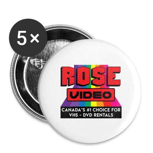 rose video logo - Confezione da 5 spille grandi (56 mm)