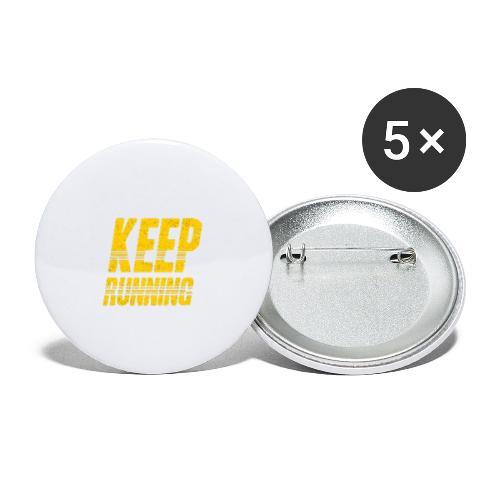 Keep running - Buttons groß 56 mm (5er Pack)