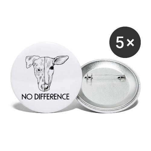 No Difference - Buttons groß 56 mm (5er Pack)
