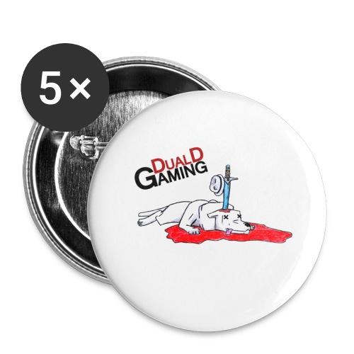 klaravarg png - Stora knappar 56 mm (5-pack)