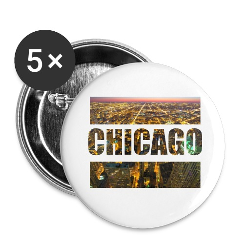 Chicago - Buttons groß 56 mm (5er Pack)