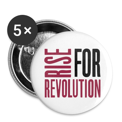 rise for rev logo - Buttons large 2.2''/56 mm (5-pack)